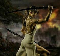 Samurai by jko · model-kartei. Warrior Girl, Warrior Princess, Samurai Photography, Sword Poses, Katana Girl, Female Samurai, Cosplay League Of Legends, Fantasy Witch, Samurai Artwork