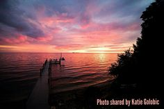 Take in a beautiful, Door County sunset. Sit back and relax as our Door County skies create an enchanting moment in time.  #SisterBay #DoorCounty #Sunset