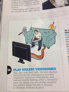 Actually, non violent video games would be fine too. Animal Crossing fishing has the same effect.