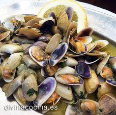 coquinas – 4 ó 5 dientes de ajo – 1 chorrito de vino blanco (Manzanilla, Fino) – Perejil picado – Un poco de pan rallado o una cucharadita de harina (opcion ...