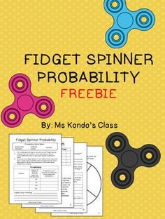 This freebie is a fun way to get your kids excited about math! Let them use those fidget spinners productively as they learn about probability. Includes 3 student response pages for predictions, data collection, and reflection plus one spinner template. Probability Games, Math Games, Math Activities, Math Tutor, Teaching Math, Teaching Ideas, Math For Kids, Fun Math, Family Math Night