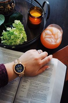 According to our Q Venture smartwatch, it's time to take a break this weekend with a book in one hand and a cocktail in the other. via @ mollyclutts