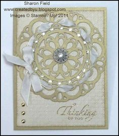 Large Sizzlit Paper Doily in Brushed Gold CS