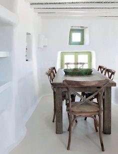 Vicky's Home: Estilo rústico-bohemio en Mykonos / Rustic bohemian style in… Mykonos, Natural Interior, Mediterranean Homes, Interior Exterior, Design Case, Interiores Design, Interior Inspiration, Rustic Decor, Living Spaces