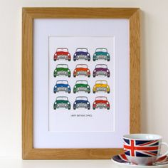 Personalised Classic Mini Car Print by designedbywink on Etsy, £15.00