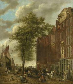De Slijpsteenmarkt te Amsterdam, Willem Pieter Hoevenaar, 1835