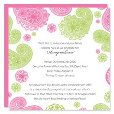 Baby naming ceremony invitation graphic design pinterest hindu naming ceremony invitation stopboris Images