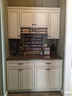 Maybe a bit too big for the drop zone I had in mind, but I like the idea....I also like the finish on the cabinets