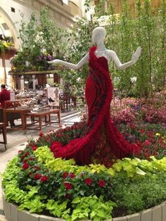 A Beautiful gown made of Flowers