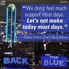 """#DallasPolice Chief David Brown said """"we need your support"""" after five officers were killed in a sniper attack. Heart to show your support for #police and the fallen. #Dallas"""