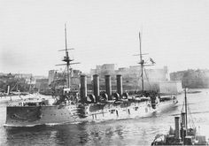 HMS Cressy - third of 3 obsolete armoured cruiser sisters sunk on the same night in September 1914 by U 9 before the submarine threat had been properly appreciated: predictable standing patrols simply exposed ships to underwater attack.