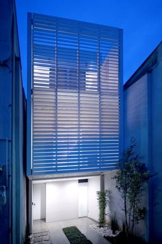 House with Gradation louver