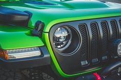 Lime Green Jeep, Blue Jeep, Jeep Grill, Jeep Wrangler Accessories, Jeep Jl, Wrangler Jl, Custom Jeep, Automotive Group, Honda Civic Si