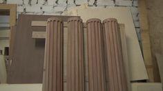 Изготовление деревянной колонны , приспособление , часть 1
