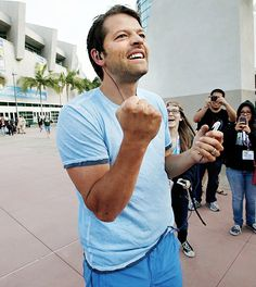 Misha Collins. Not only is he an amazing actor, but he's absolutely hilarious! I am a strong believer in having fun doing your job and Misha is a perfect example of someone who does just that. He understands the importance of having fun with whatever it is you do, and if that's not something to admire, then I don't know what is.