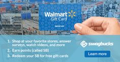 Reward yourself with free gift cards for Shopping, Searching and Discovering stuff online. Join for free today! (affiliate link)