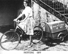 Louise Sutherland who set off from London in 1949 by bicycle and followed the wind around the world.