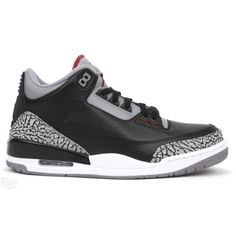 new style 8acd4 49224 Air Jordan 3 Black Cement Black Varsity Red Cement Grey 136064-010  54,over