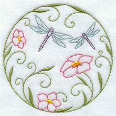 Machine Embroidery Designs at Embroidery Library! - Dragonflies