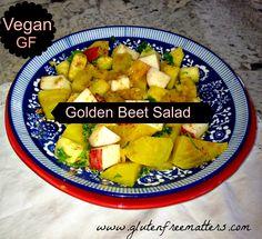 Gluten Free A-Z + Body, Mind, Spirit Health: Golden Beet Salad in Citrus Sauce