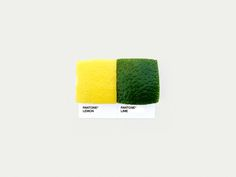 Real-world Pantone swatches. A cute idea beautifully executed. Visit the site for many more! Food Art Pairings - Dschwen LLC. | Design & Illustration