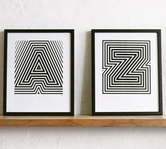 These prints are from Hannah and the team at Yeah No Yeah in the UK and are screen-printed by hand as posters measuring approximately 16 x 20 inches. You can choose any letter of the alphabet online right here for $65.