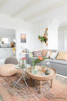 bright, eclectic living room