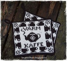 Ravelry: Varm kaffe, gryteklut pattern by Jorunn Jakobsen Pedersen Crochet Potholders, Knit Crochet, Homer Decor, Double Knitting, Pot Holders, Ravelry, Mittens, Needlework, Diy And Crafts