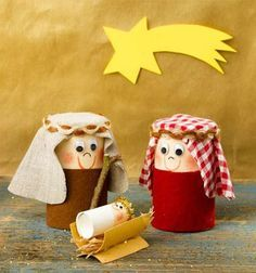 Crafts with toilet rolls for Christmas – 60 simple DIY projects to imitate – Holidays Kids Crafts, Bible Crafts, Cork Crafts, Christmas Crafts For Kids, Christmas Activities, Christmas Projects, Christmas Decorations, Nativity Crafts, Christmas Nativity