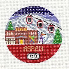 Aspen Ski Ornament by DoolittleStitchery on Etsy