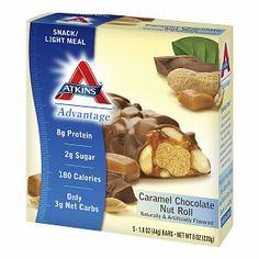 Atkins Advantage Snack Bars, 5, Caramel Chocolate Nut Roll