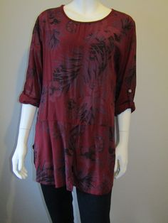 Lagenlook tunic 6089 wine