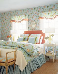 Chintz & plaid - love traditional English influences!