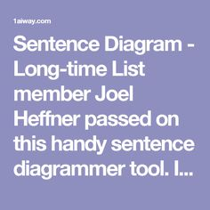 We love sentence diagramming at teaching squared we have sentence sentence diagrammer is the ultimate sentence diagramming tool diagram your sentences online and see the beauty of reed kellogg diagrams ccuart Images