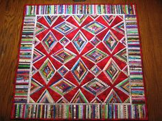 """Q is for Quilt"": My first selvage quilt, 2010"