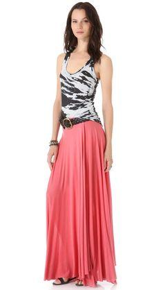 Cute maxi skirt and tank.
