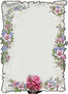 Rose Gold Wallpaper, Flower Background Wallpaper, Flower Backgrounds, Paper Background, Text Background, Background Vintage, Borders For Paper, Borders And Frames, Stationary Printable