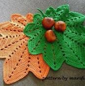 crochet hot pad,doily autumn leaf nr 14 - via @Craftsy $2.99