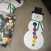 Counting buttons Snow Themed Activities and for me: assessment!