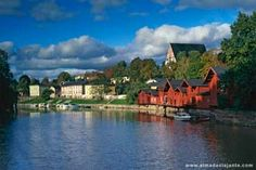 Vista de Porvoo, Finlândia Continents, Places Ive Been, Wanderlust, Mansions, Country, House Styles, City, Travel, Father Christmas