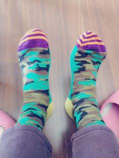 The Happy socks Lovelyyyyyyy all any time!!!!!  Ist it lovely that camuflaje????
