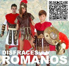 Disfraz de gladiador / romano. Amplio surtido en disfraces y complementos de romanos. Escudos, espadas, cascos.