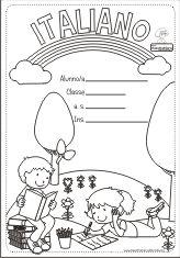 copertina di italiano Middle School, Back To School, Italian Colors, Letter Matching, Preschool, Printables, Lettering, Education, Comics