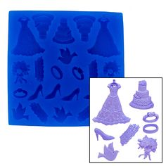 Mini Wedding Set Mold by First Impressions Christmas & Holiday Molds