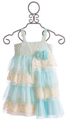 Isobella and Chloe Cinderella Tiffany Girls Layered Dress $54.00