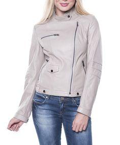 Cazadora beige de piel con descuento Leather Jacket, Beige, Jackets, Fashion, Fall Season, Trends, Colors, Studded Leather Jacket, Down Jackets