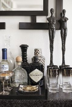 44 Home Bar Designs Ideas To Make You Cozy. If you are planning to have a bar in your home with a unique design where you can hang-out, party with your friends or just watch a game you need to have a . Home Bar Decor, Bar Cart Decor, Bar Cart Styling, Bandeja Bar, Home Bar Accessories, Bar Tray, Gold Bar Cart, Black Bar Cart, White Bar