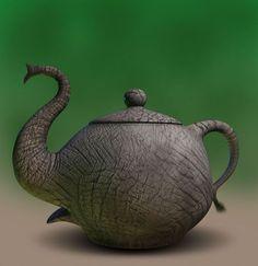 Elephant Tea Pot, for my seester Pottery Teapots, Ceramic Teapots, Ceramic Pottery, Elephant Teapot, Elephant Love, Elephant Stuff, Tea Party Movement, Teapots Unique, Cuppa Tea