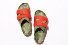 The two brands join for a pair of new colorways of the Lennon Chiller sandal. Camouflage, The Help, Two By Two, Footwear, Pairs, Sneakers, People, Summer Sandals, Collection