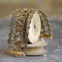 Genuine Antique Gold Passementerie Trim Ribbon by Rubanesque, €120.00